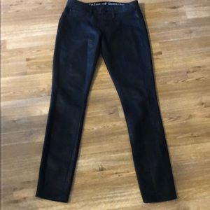 Article Of Society Black Faux Leather Jeans